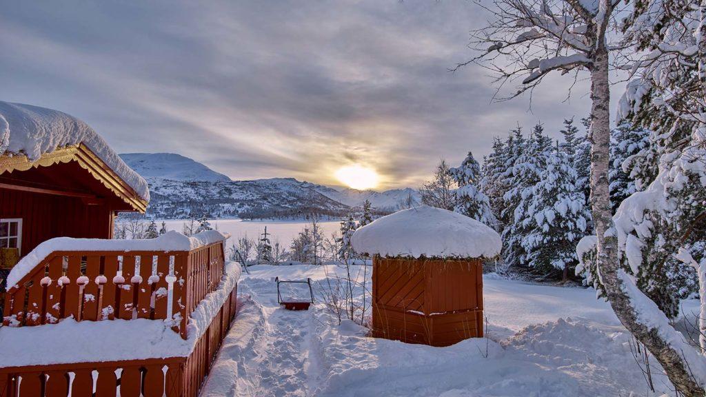 Snømåking på hytta | Oddvar Aursnes